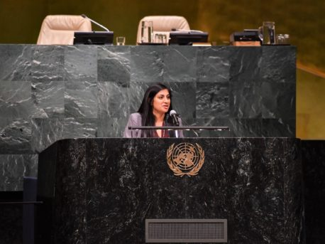 Speaking at UN Podium